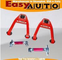 Front Upper Camber kit + REAR CAMBER KIT Adj.RED FIT FOR Honda Civc 96 97 98 99 00 EK
