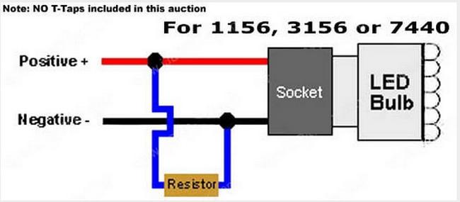 2pcs error free 1156 car led light bypass wiring decoders load rh aliexpress com led tail light resistor wiring led resistor wiring diagram