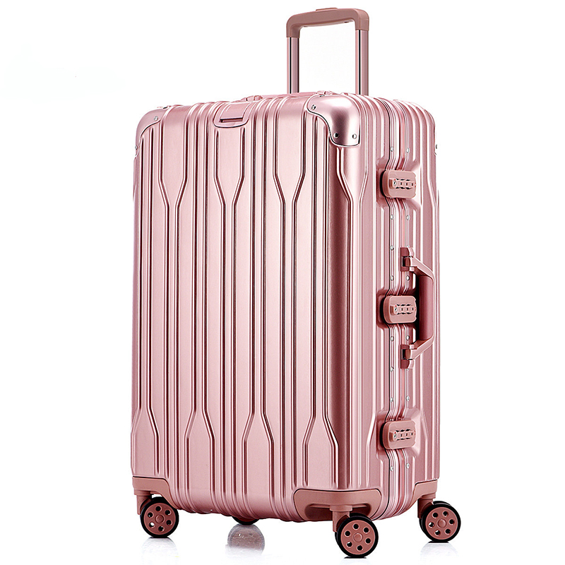 d1c408a0df54 Unisex Business Aluminum Travel Airplane Luggage Spinner Wheels Suitcase  Clothing Carry On 20