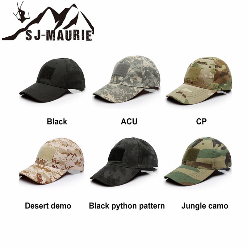 20cc73428 SJ-MAURIE Outdoor Sport Caps Camouflage Hat Simplicity Tactical Military  Army Hat Camo Hunting Cap Hat for Men Adult Cap