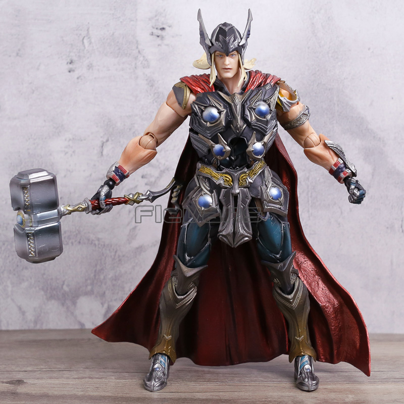 Play Arts KAI Series Marvel Super Hero Thor Variant Ver. PVC Action Figure Toy Collection Model 26cm hotsale dc 12v 5a power supply adaptor for cctv camera cctv system 12v 60w security professional converter adapter free shipping