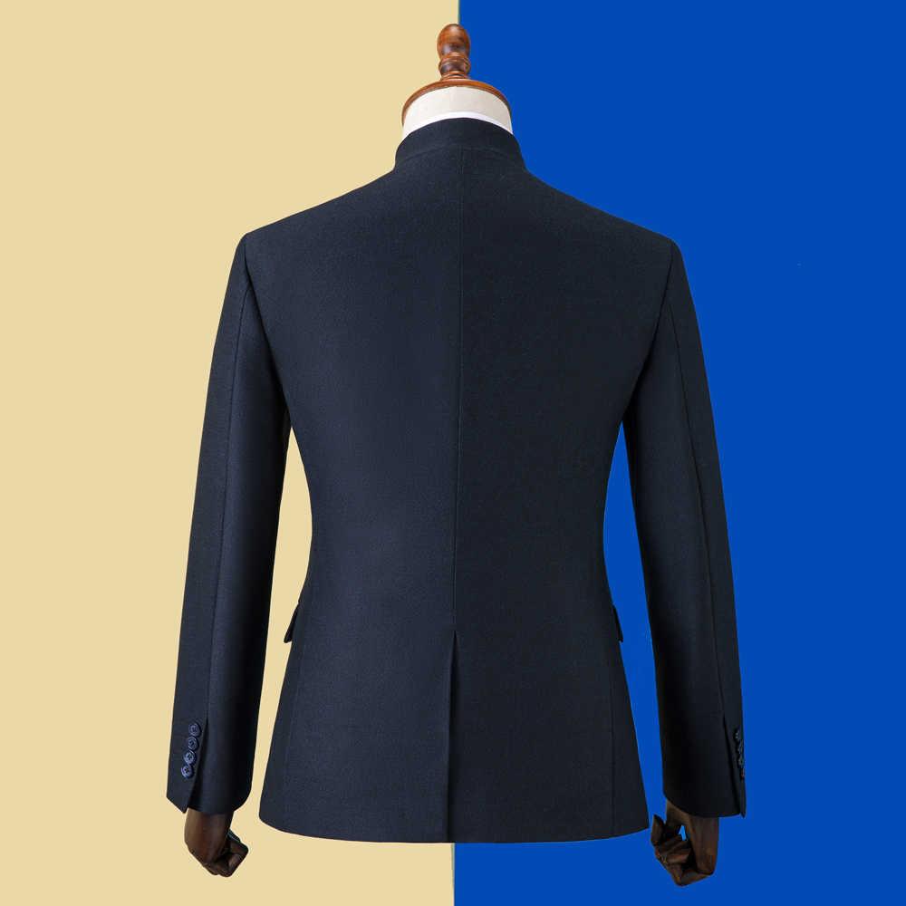 OSCN7 2019 Stand sur mesure costumes hommes Slim Fit fête de mariage hommes sur mesure costume mode 3 pièce Blazer pantalon gilet ZM-603