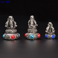 SEA MEW Nepal Metal Copper Pagoda Spacer Bead Buddha Bead Loose Beads For Jewelry Making
