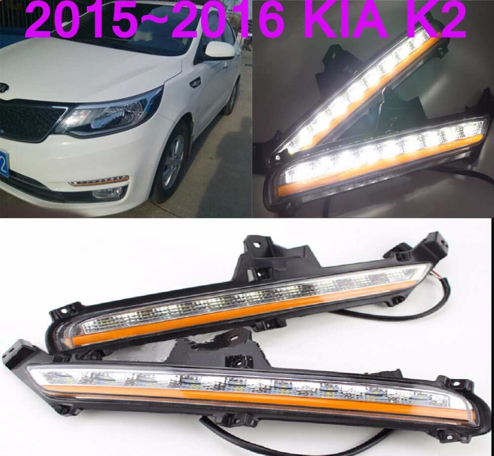 Car-styling,KlA K2 daytime light,Rio 2011~2014/2015~2016,chrome,LED,Free ship!2pcs,KlA K2 fog light,car-covers,K2,K 2 sylphy daytime light 2015 2017 free ship led car styling 2ps set sylphy fog light chrome car covers lannia
