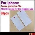 60 unids para el iphone marcos reparador Clear Screen Protective Film guardia frente y vuelta Film Protector de pantalla