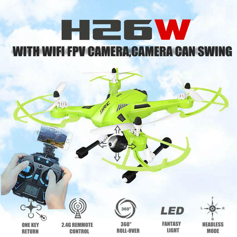 2016 New H26 H26W 2.4G 4CH 6 Axis Gyro Wifi FPV RC Quadcopter Real-time Transmission RC  Drone with HD Camera vs U818S U842