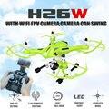 2016 Nova JJRC H26W H26 2.4G 4CH 6 Eixos Giroscópio FPV Wi-fi RC Quadcopter RC Drone com HD Camera vs Real-tempo de Transmissão U818S U842