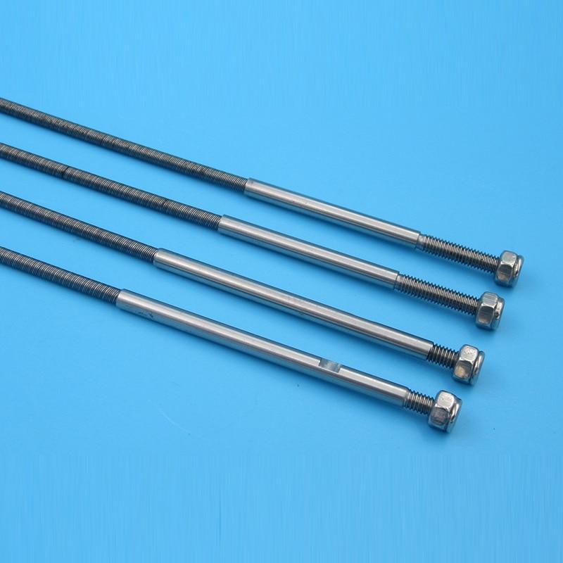 FATJAYF RC Boat Accessories Integrated Flexible Shaft Diameter 3.18mm To 4mm Length 355mm Long Screw Teeth Short Screw Teeth