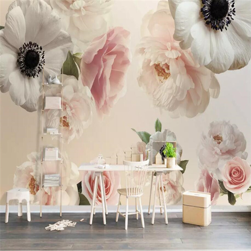 Beautiful flowers TV background professional production murals manufacturers wholesale wallpaper mural poster photo wall in Fabric Textile Wallcoverings from Home Improvement