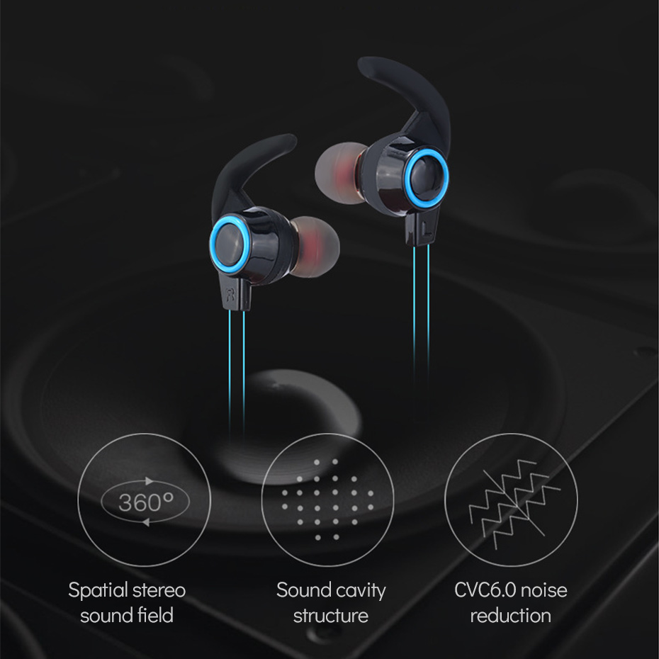 Wireless Headphone Bluetooth IPX4 Waterproof Earbuds Headset Stereo Music Earphones with Microphone for iPhone/Android Phones 2