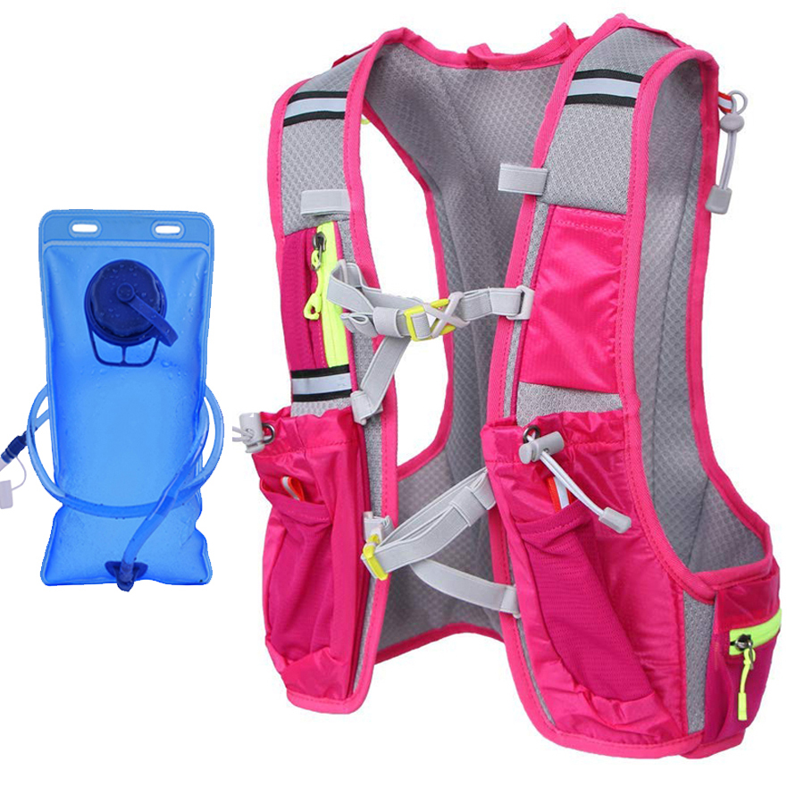 Women Running Backpack Water Bottle Holder Waterproof For Phone Trail Fanny Pack Running Sport Marathon Hydration Camping Bag
