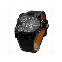 Fashion Brand Super Speed V6 Watches Men Cycling Sports Watch Casual Trusty Waterproof Quartz PU Leather