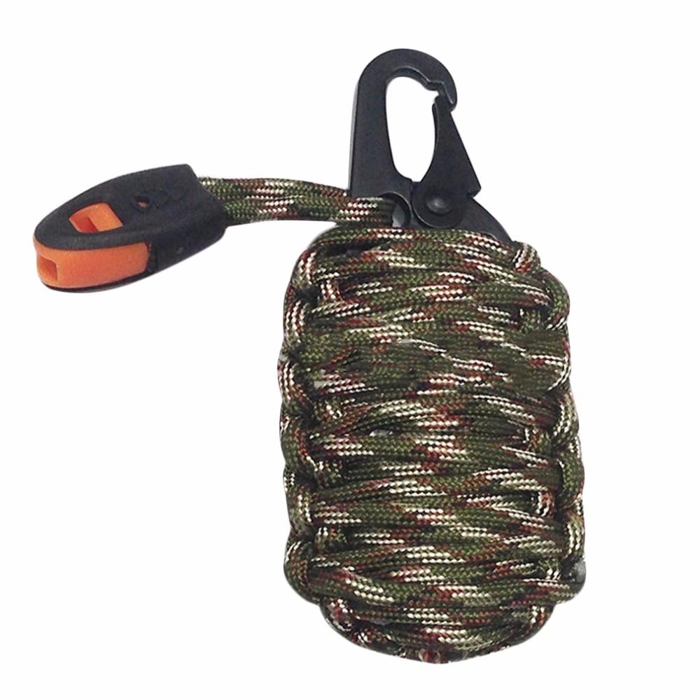 Edc gear paracord granada kit de supervivencia del cuchillo de bolsillo herramie