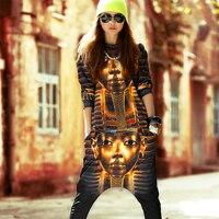 Dres femal Egipski Faraon damskie garnitury odzież zestaw druku 3d hip hop spodnie dresy harajuku bluzy dwuczęściowy zestaw