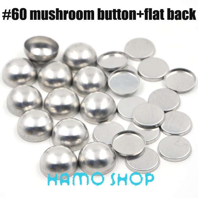 50 Sets/lot #60 Aluminum Mushoroom Shape Round Fabric Covered Cloth Button Cover Metal 3.75cm/37.5mm Free Shipping