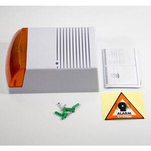 Image 2 - Fack sirena estroboscópica de alarma para exteriores, resistente al agua, con Flash rojo luz infrarroja, Led, alerta de seguridad para el hogar, sistema de alarma antirrobo