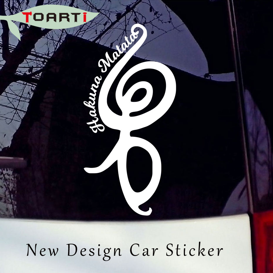 102178 Cm Hakuna Matata Symbol Car Decal White Personality Vinyl