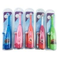 Kinder Elektrische Zahnbürste Cartoon Muster Zahn Pinsel Elektrische Zähne Pinsel Für Kinder mit 2 stücke Ersatz Kopf-in Elektrische Zahnbürsten aus Haushaltsgeräte bei