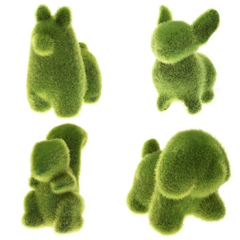 Cute Animal Shape Simulation Green Grass Ornaments Emulational Green Plant Bonsai Grass Animal Decoration For Home Garden сноуборд terror snow grass green