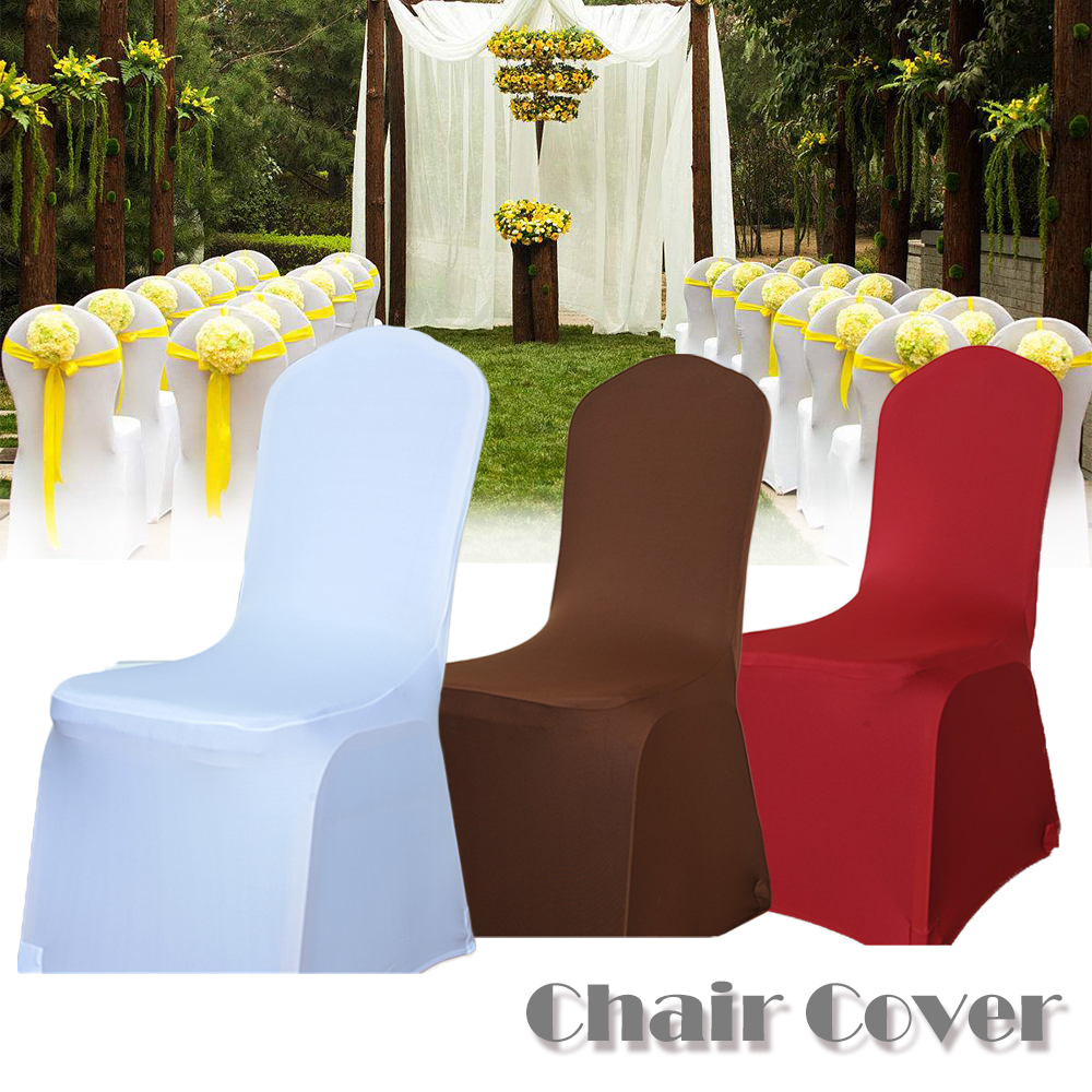 Cheap Hotel White Lycra Spandex Chair Covers For Weddings
