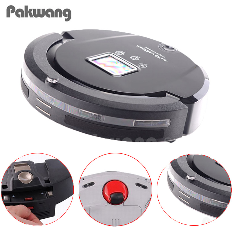2018 Pakwang A320 Smart Robot Vacuum Cleaner Dry Clean Mop Water Tank Hepa Filter,Ciff Sensor,Self Charge Robot Aspirador Vacuum eworld m884 mop robot vacuum cleaner for home hepa filter sensor remote control self charge robot electric sweeper