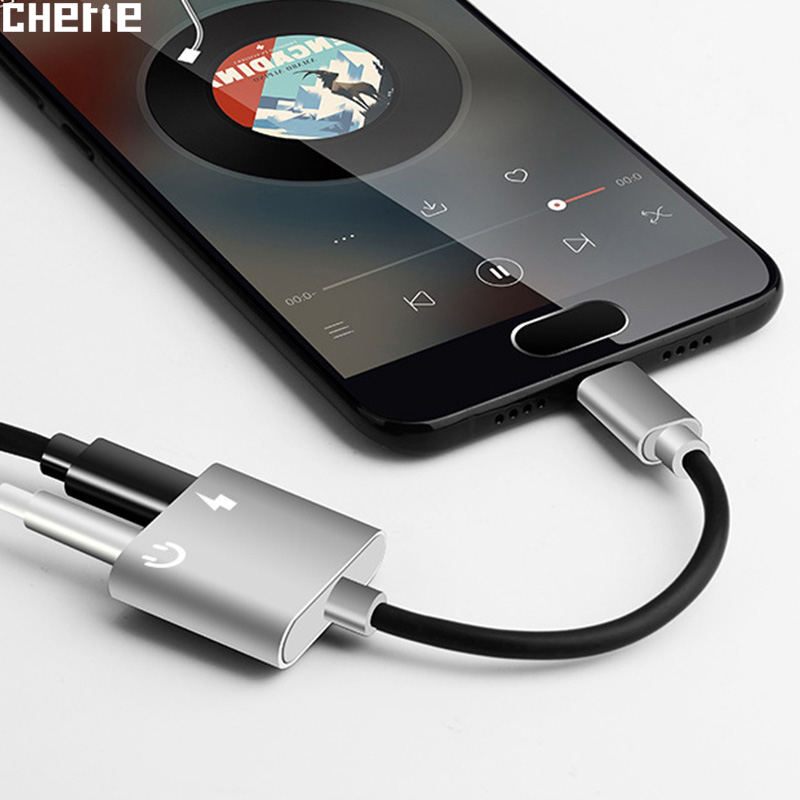 Cherie Jack-Adapter Converter Cable Headphone Charge Audio Type-C Xiaomi 2-In-1-Connector