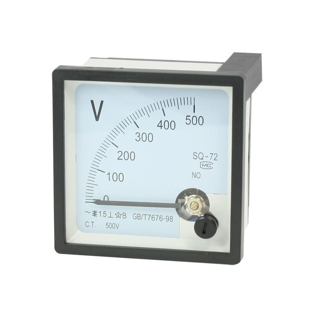 Кв-72 500 в класс 1,5 переменного тока 0-300 в 450 в аналоговый квадратный вольтметр Панель Вольт Метр