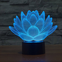 Colorful Lotus Led Night Light  Novelty Flower Light For  Wedding Gifts