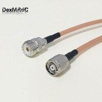 UHF żeński Jack SO239 przełącznik RP-TNC wtyk męski (żeńskie złącze) RF koncentryczny adapter do kabla RG142 50 CM 20