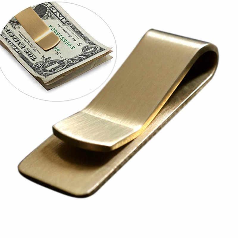 ผู้ชาย Dollar ผู้ถือทองเหลืองเงินคลิปสำนักงานใบเสร็จรับเงิน Rack CLAMP Organizer Gentle Man กระเป๋าสตางค์ Lot ธุรกิจ # b20