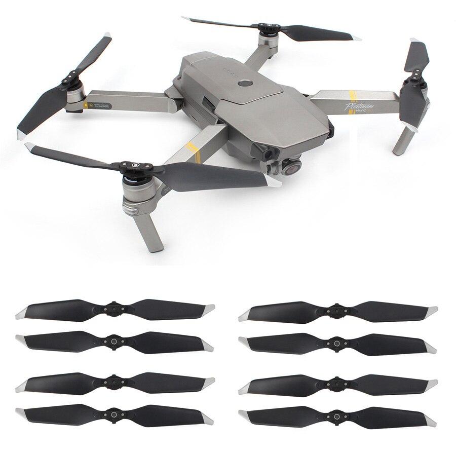 8 piezas 8331 bajo ruido Hélice para DJI Mavic PRO Platinum Cámara Drone reducción de ruido Blade Props Drone repuestos partes