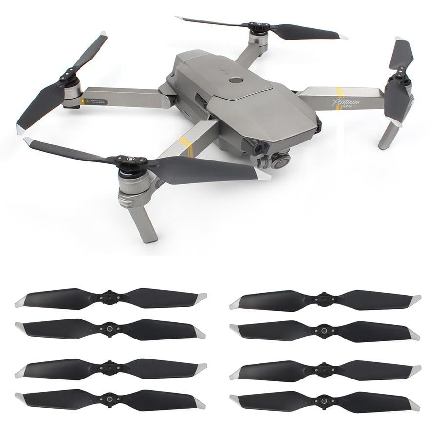 8 piezas 8331 bajo ruido de la hélice para DJI Mavic PRO Platinum Drone cámara de reducción de ruido de hoja accesorios Drone repuestos partes