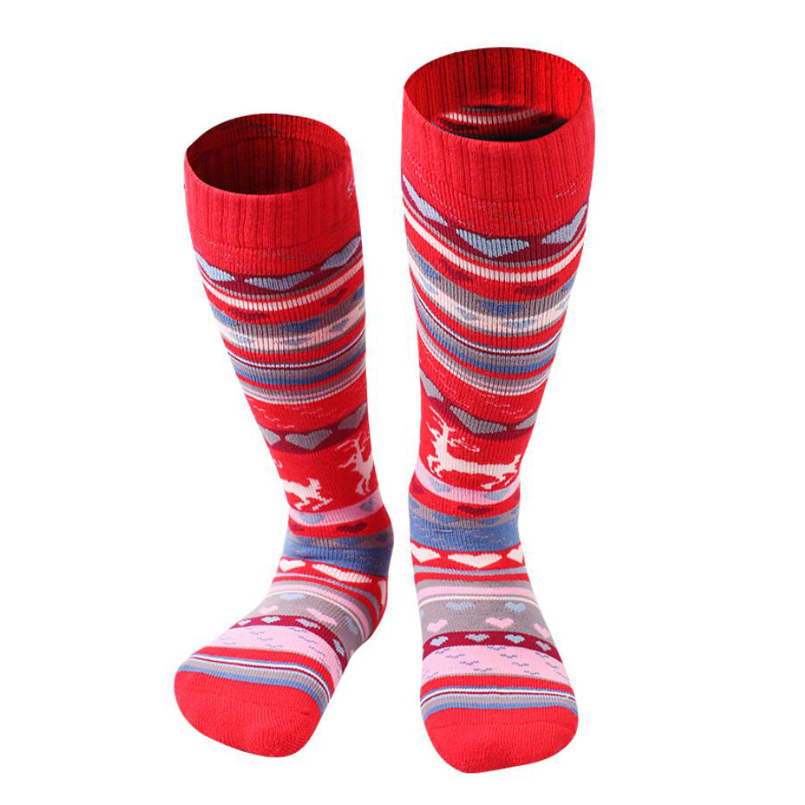 Kids Boy Girl Winter Long Ski Socks Skiing Socks Sport Quick dry Socks 28-32
