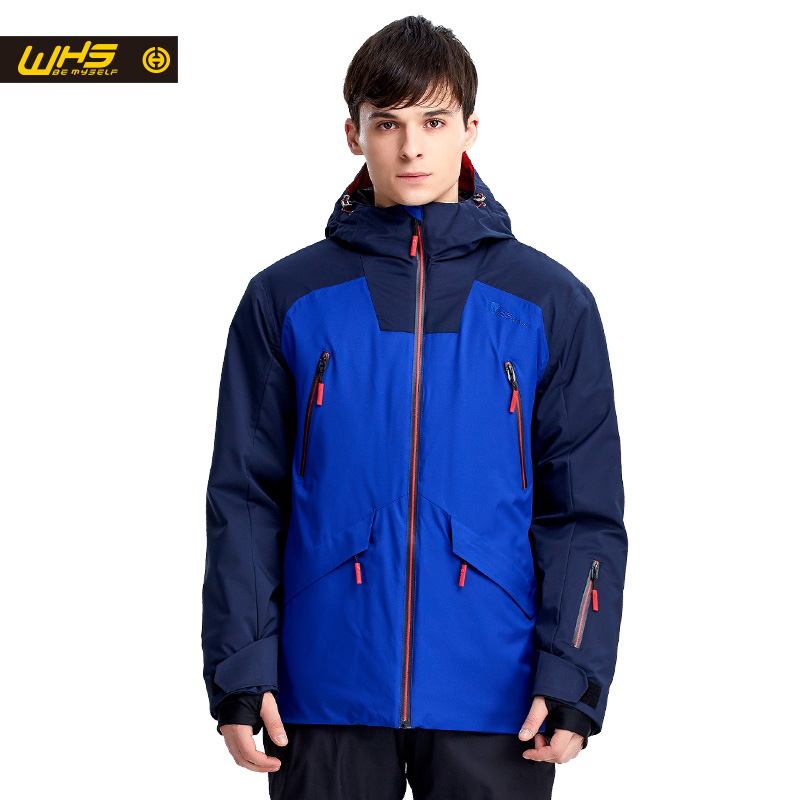 WHS Men snow Jackets Brand Outdoor windproof skiing coat Man snow clothes sport jacket snowboarding coats