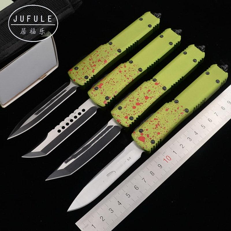 JUFULE UT UT70 UT85 D2 blade aluminum handle camping Tactical tool dinner kitchen knife