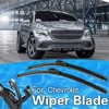 2PCS OEM For CHEVROLET CHEVY SSR 2003-2006 FRAMELESS WINDSHIELD WIPER BLADES WIPERS Soft Rubber Frameless Car-Styling