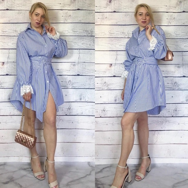 Chemise Nouvelle Rayée La Xxxl Bleu Taille À Plus Femmes Mode wvOSqIIEWZ