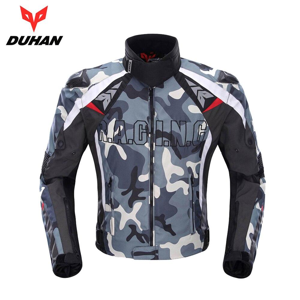 DUHAN veste de moto hommes équipement de protection Camouflage résistant au froid chevalier équitation vestes moto vêtements moto veste
