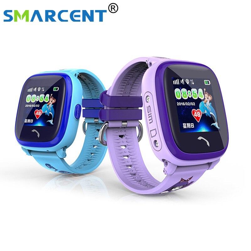 0a9ae59e270 IP67 DF25 Crianças GPS Do Telefone smart watch relógio de Natação do bebê À  Prova D  Água Chamada SOS Dispositivo de Localização Rastreador Crianças  Seguro ...