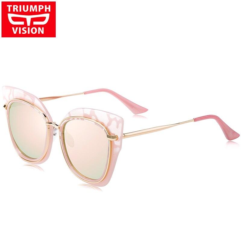 5627d9695af5 TRIUMPH VISION Ladies Luxury Brand Sunglasses Women 2017 Designer Shades  Female Cat Eye Style Sun Glasses For Women Pink Mirror-in Sunglasses from  Apparel ...
