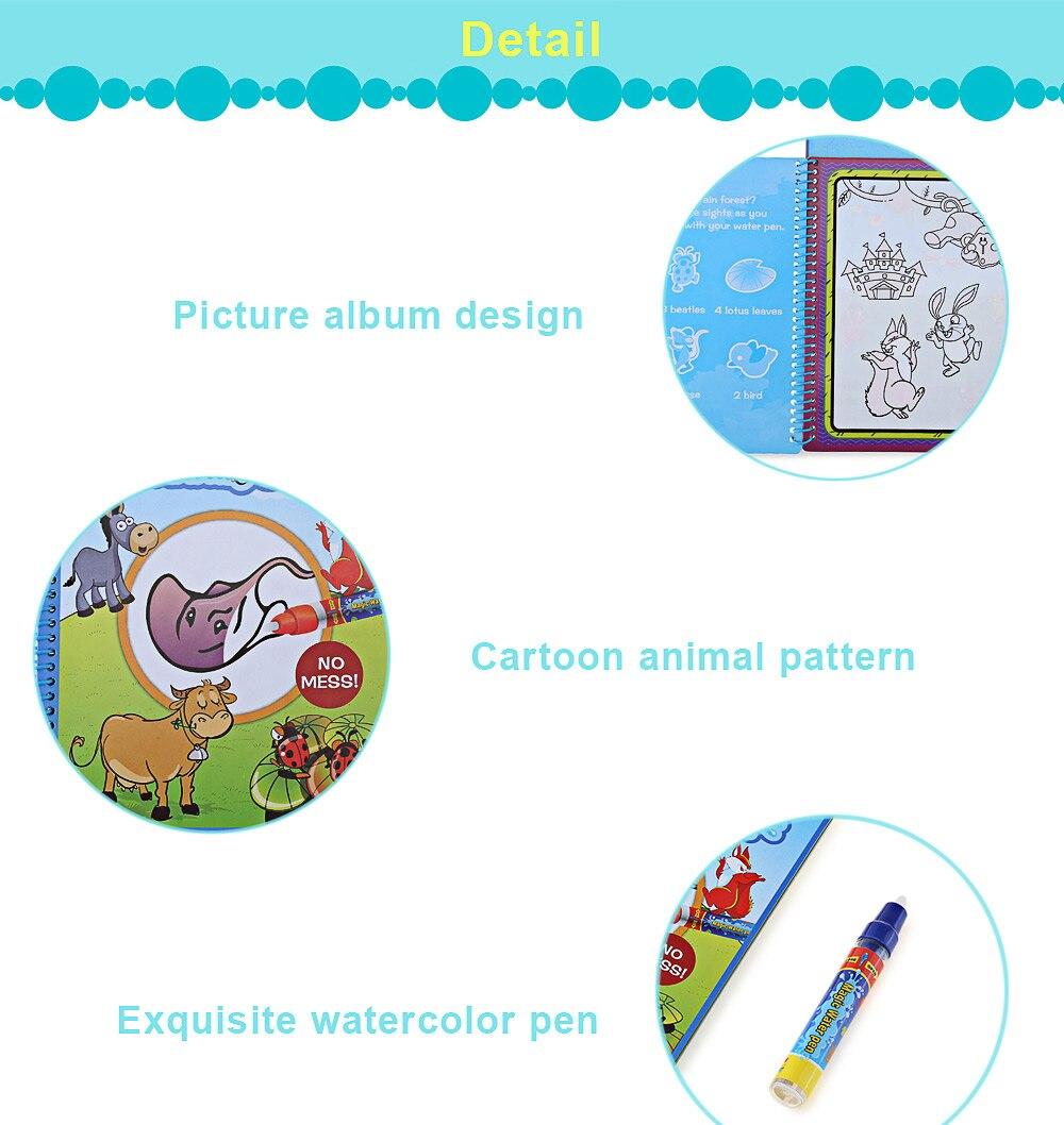 Kind Wasser Zeichnung Buch Magie Pädagogisch Entwicklung Unisex heißer Verkauf Lernspielzeug