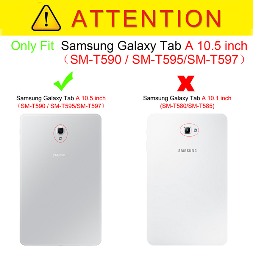 0d8bff670ea Case For Samsung Galaxy Tab A 10.5 2018 SM-T595 T590 T597 Magnet Sleep Wake  Up Cover ...