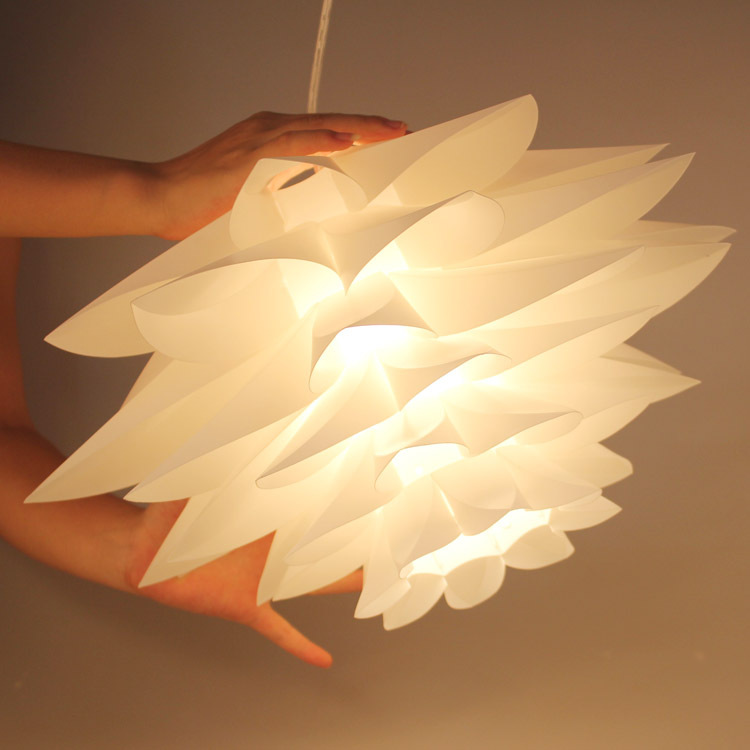 Lily Flowers Lamp Pendant Light Material Of Pvc 55cm Lotus