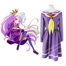 Caliente venta del Anime japonés NO juego NO LIFE cosplay del vestido del traje hallowean cosplay para mujeres navidad