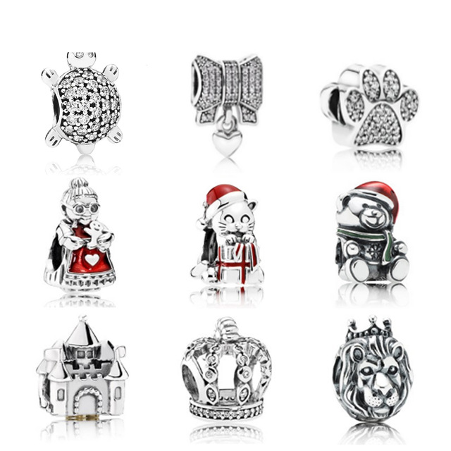 NEW Genuine 925 Sterling Silver Pattern people Clear CZ The lion Charm Beads Fit Bracelet DIY bracelet factory WholesaleNEW Genuine 925 Sterling Silver Pattern people Clear CZ The lion Charm Beads Fit Bracelet DIY bracelet factory Wholesale