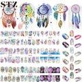 12 Designs Nail Art Sticker Set Moinho de vento de Fantasia Padrões de Imagem Tatuagens de Transferência da Água Decalques Prego Beleza DIY Manicure BN301-312