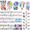 12 Designs Nail Art Sticker Set Windmill Fantasy Image Patterns Water Transfer Decals Nail Beauty DIY Tattoos Manicure BN301-312