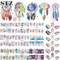 12 Diseños Nail Art Sticker Set Windmill Fantasía Imagen Patrones de Transferencia de Agua Calcomanías de Uñas Belleza DIY Tatuajes de Manicura BN301-312