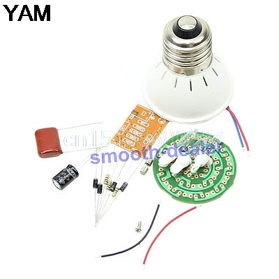 Active Components Energy-saving 38 Leds Lamps Diy Kits Electronic Suite 2.4w 170-210lm Pbt Flame Retardant Shell Ac 85v-277v Punctual Timing
