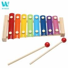 WINCO Детские Музыкальный инструмент, игрушка деревянная рамка стиль ксилофон Дети Малыш музыкальные Забавные игрушки детские развивающие игрушки подарки на день рождения